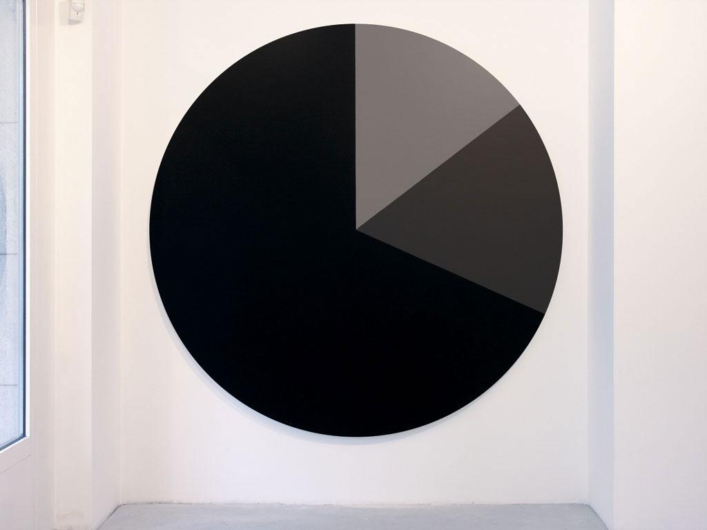 Claude Closky, 'Untitled (020001)', 2005, acrylic on canvas, ø 210 cm.