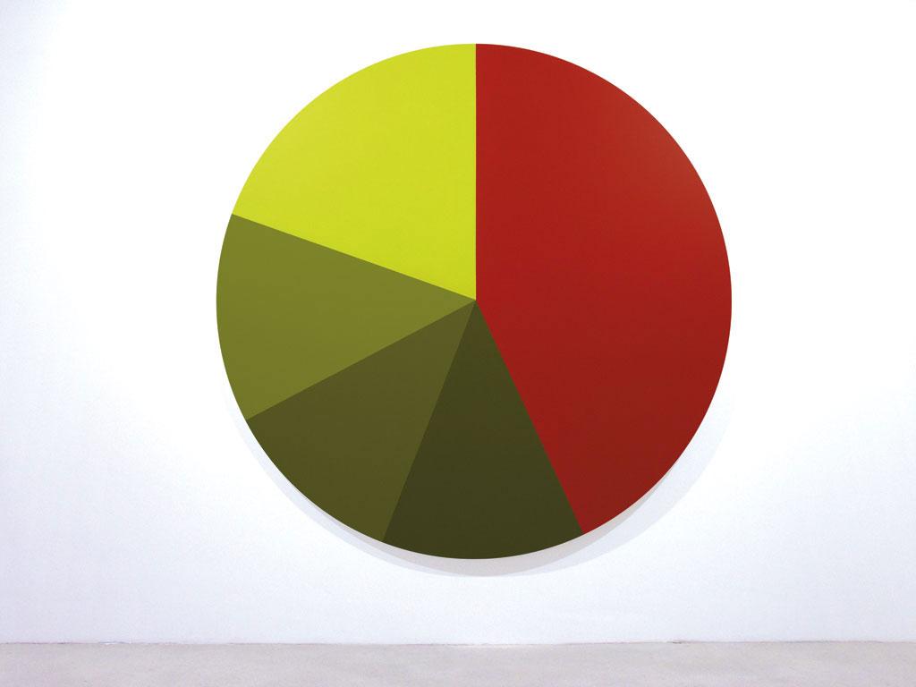 Claude Closky, 'Untitled (9D0C11)', 2005, acrylic on canvas, ø 210 cm.