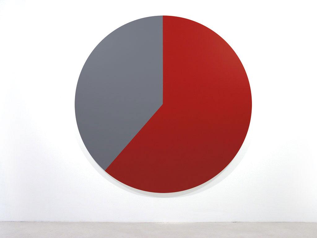 Claude Closky, 'Untitled (D7161C)', 2005, acrylic on canvas, ø 210 cm.