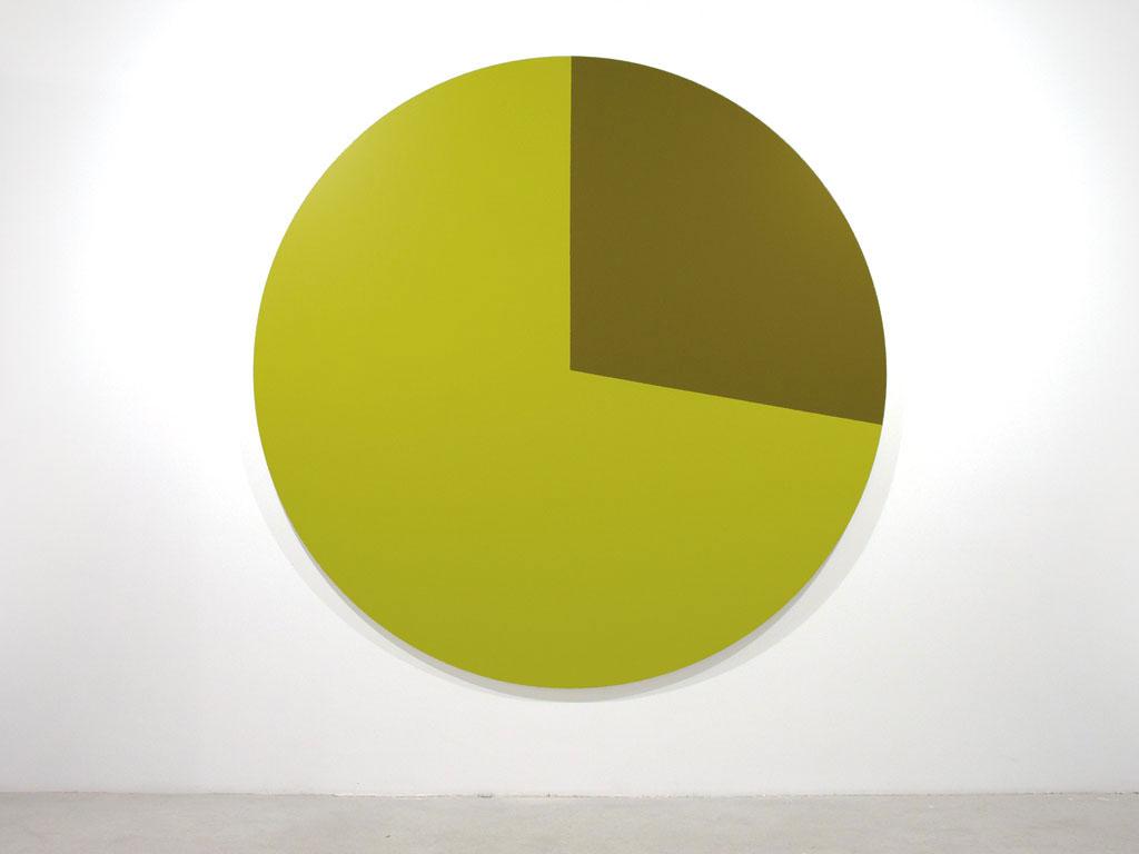 Claude Closky, 'Untitled (E5C123)', 2005, acrylic on canvas, ø 210 cm.