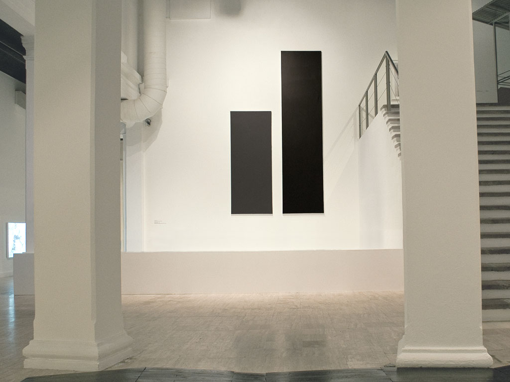Claude Closky, 'Untitled (Grey and Black 400)', 2006, acrylic on canvas, diptych, 400x225 cm (250x100 & 400x100).