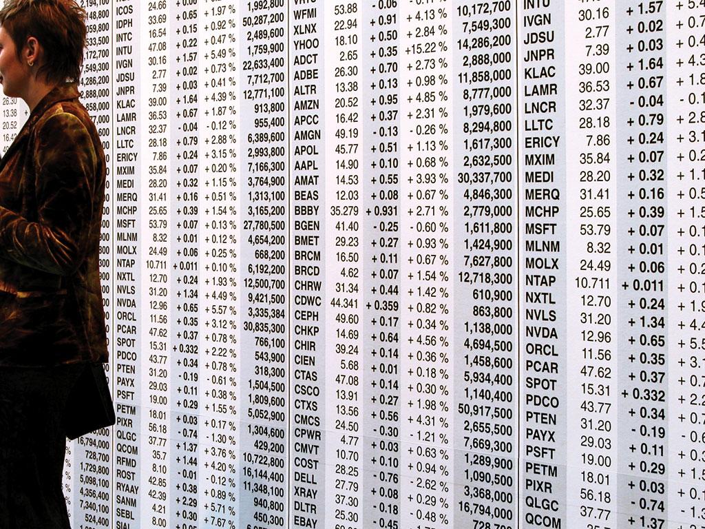 Claude Closky, 'Untitled (NASDAQ)', 2003, wallpaper, silkscreen print, dimensions variable.