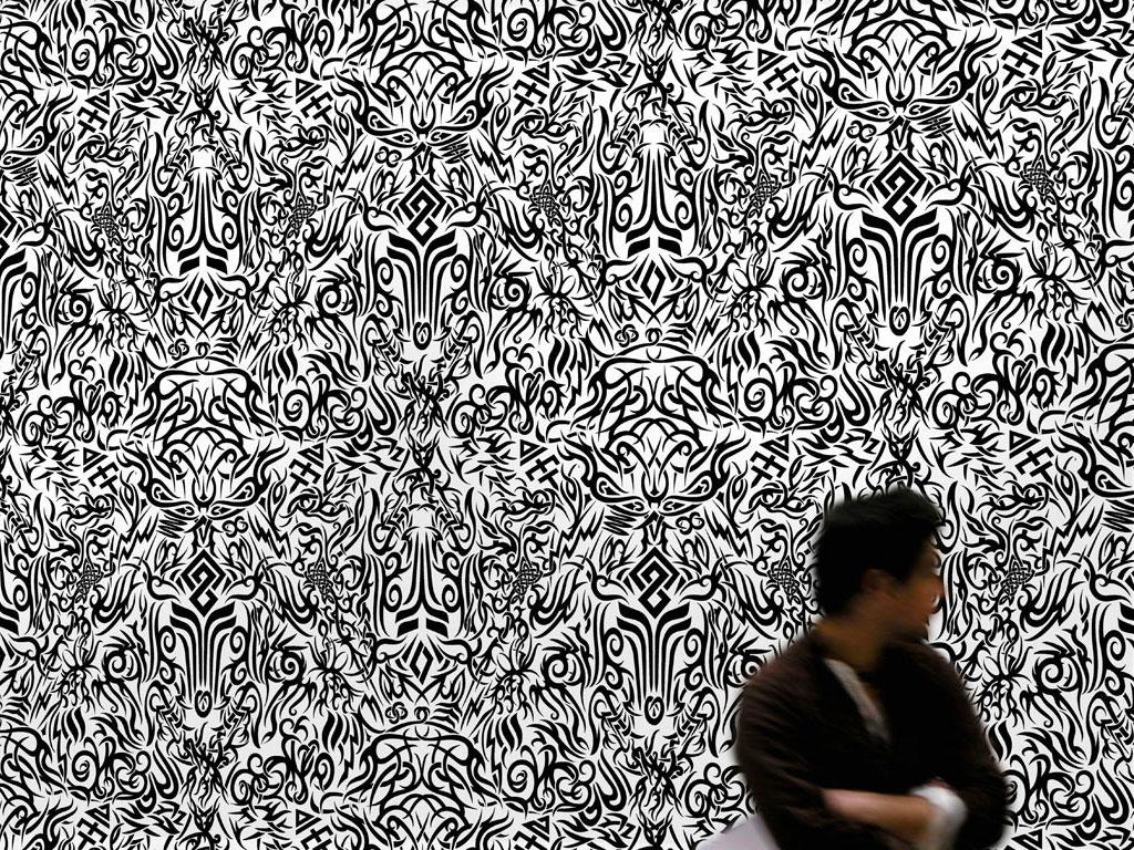 Claude Closky, 'Untitled (Tattoos)', 1998-1999, wallpaper, silkscreen print, dimensions variable.