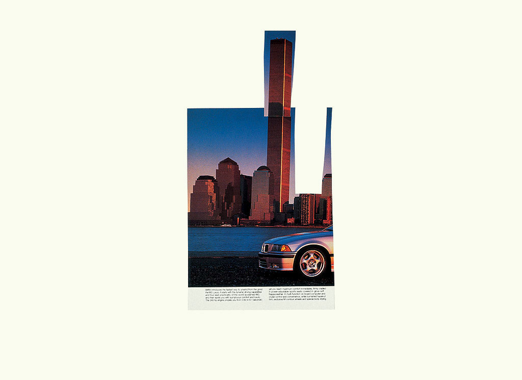 Claude Closky, 'Untitled (Twin Towers)', 1998, collage sur papier, 51 x 70 cm.