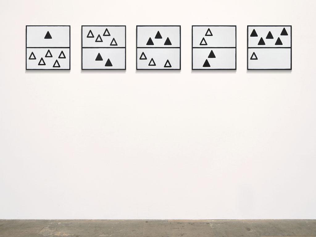 Claude Closky, 'Untitled (borderline deficiency)', 2011, acrylic on canvas, 5 x 40 x 40 cm.