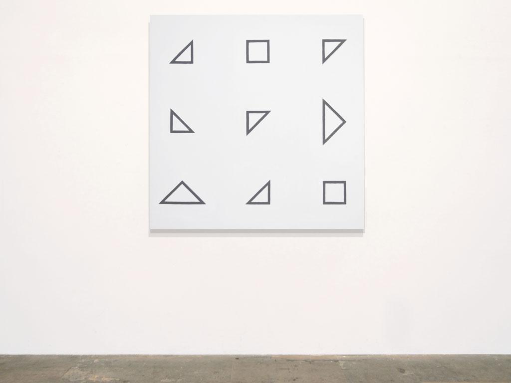 Claude Closky, 'Untitled (defective intelligence)', 2011, acrylic on canvas, 120 x 120 cm.