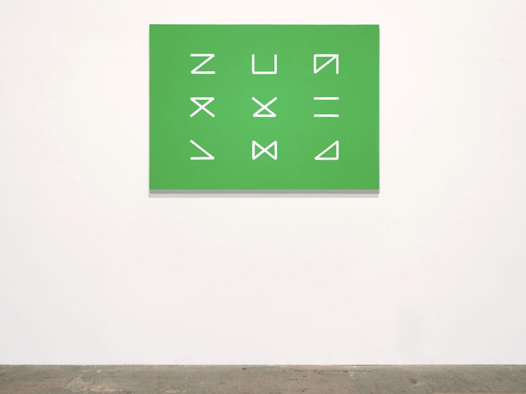 Claude Closky, 'Untitled (dullness)', 2011, acrylic on canvas, 90 x 125 cm.