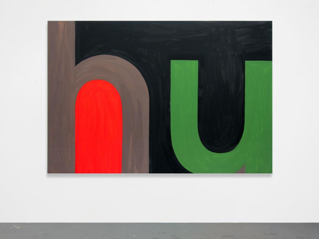 Claude Closky, 'Untitled (hu)', 2010, acrylic on canvas, 150 x 221 cm.