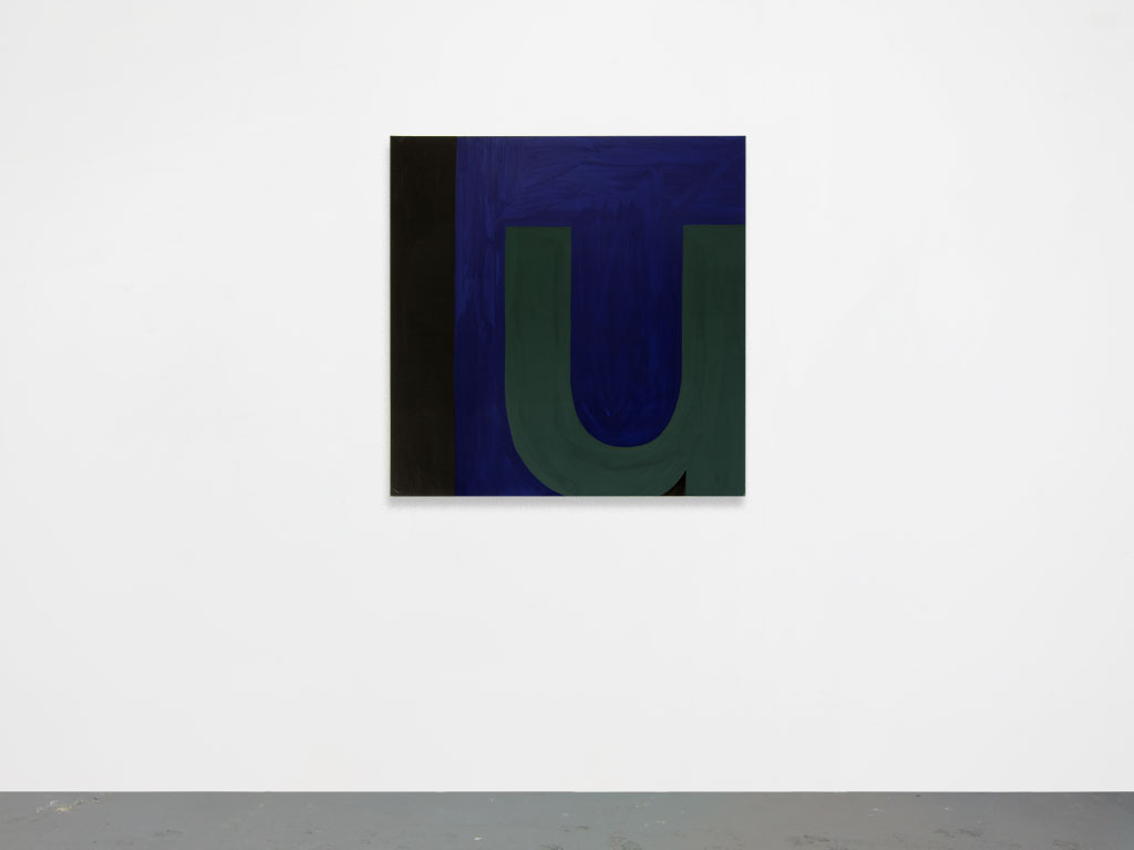 Claude Closky, 'Untitled (lu)', 2010, acrylic on canvas, 100 x 99 cm.