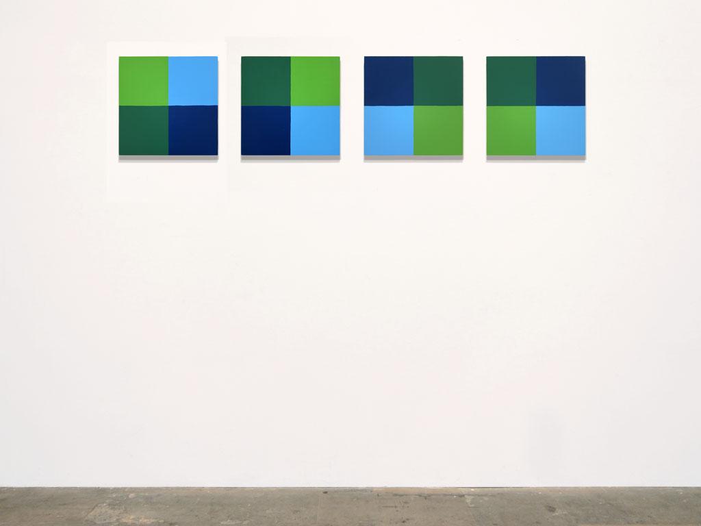 Claude Closky, 'Untitled (mentally retarded)', 2011, acrylic on canvas, 4 x 40 x 40 cm.