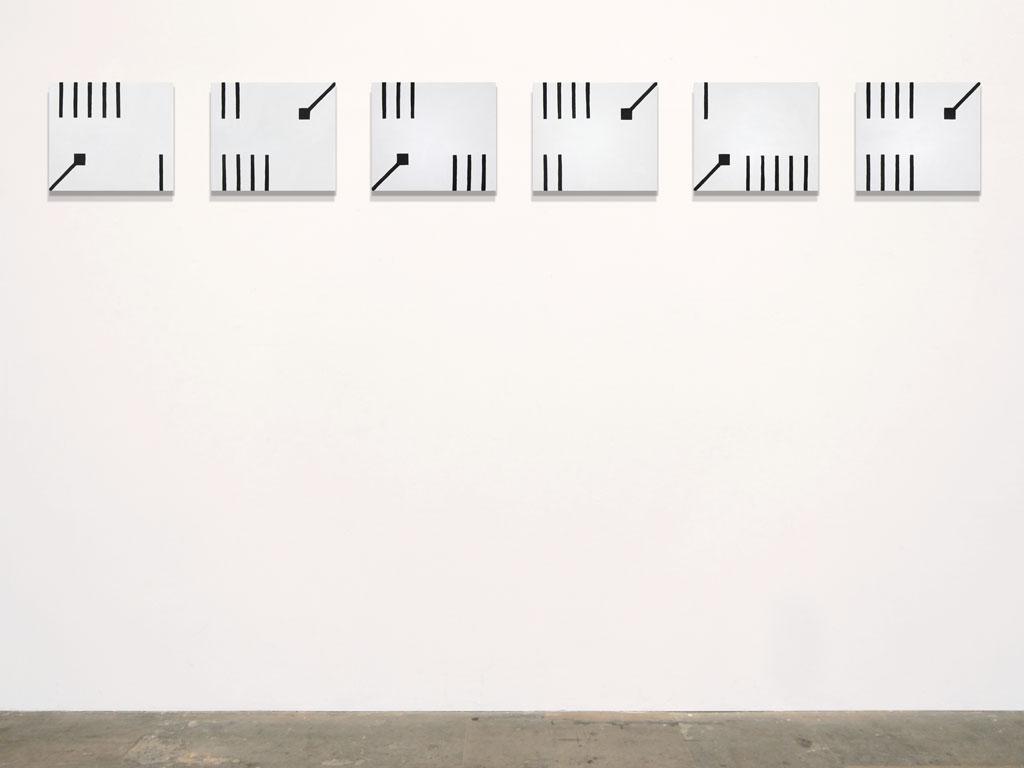 Claude Closky, 'Untitled (moderate MR)', 2011, acrylic on canvas, 6 x 30 x 35 cm.