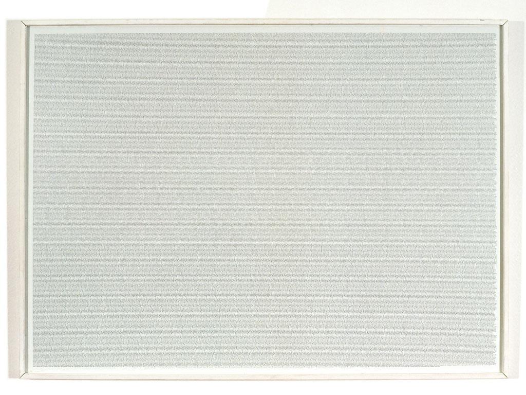 Claude Closky, Portrait series, 1991, bromide print mounted on aluminum, 45 x 62 cm.